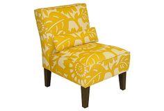 Bergman Armless Chair, Marigold on OneKingsLane.com