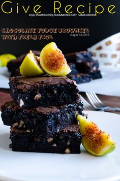 Chocolate Fudge Brownies with Figs   #chocolate #brownies #figs #dessert