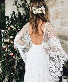The sleeves might be too floppy for a winter wedding, but still overall cute