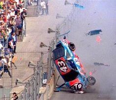 Richard Petty has a serious crash at the 1988 Daytona 500.