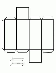 Prismacuadrangular,recortable figuras geometricas bidimensionales