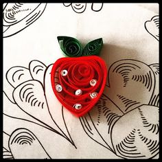 fragola quilling, quilling strawberry