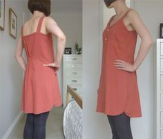 upcycle man's shirt to a dress