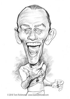 "This series of ""How to Draw Caricatures"" tutorials are a just a small taste of a larger and much more in-depth book I wrote called The Mad Art of Caricature! The book is 175 full-color … Art Drawings Sketches, Realistic Drawings, Cartoon Drawings, Pencil Drawings, Crime, Batman Artwork, Caricature Drawing, Celebrity Caricatures, Cartoon Faces"