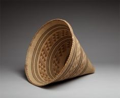 "Louisa Keyser, Seed gathering basket, circa 1910–14, 19 x 19 inches (diam.), on view in  ""Tahoe: A Visual History,"" at the Nevada Museum of Art, Reno, NV, August 22, 2015 - January 10, 2016."