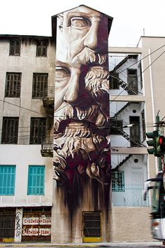 Greek street artist and muralist iNO