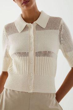 Strick Cardigan, Summer Knitting, Knitwear Fashion, Short Sleeve Cardigan, 6 Photos, Knitting Designs, Colorful Fashion, Crochet Clothes, Pulls
