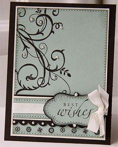 Creams/whites would make a nice wedding card