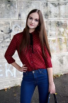 Blouse with a bow