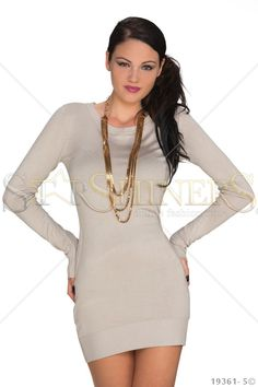 Girlish Option Cream Dress