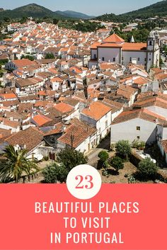 Our Picks for 23 of the Best Places to Visit in Portugal - Must Visit Places to Visit in Portugal on Your Next Visit - 23 beautiful places to visit in Portugal, including the best places to visit in the north, central and south part of Portugal! Best Beaches In Portugal, Portugal Vacation, Places In Portugal, Visit Portugal, Spain And Portugal, Portugal Trip, Portugal Destinations, Portugal Travel Guide, Best Places In Cyprus
