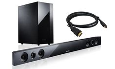 Samsung Sound Bar with Bluetooth, Wireless Subwoofer, and HDMI Cable | Groupon