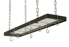 Rectangle Hanging Pot Rack with Grid