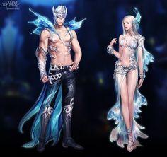 신세계 업데이트 - 신규 아이템 - 파워북 : plaync 아이온 Fantasy Character Design, Character Concept, Character Inspiration, Character Art, Concept Art, Fantasy Couples, Fantasy Art Women, Beautiful Fantasy Art, Anime Girl Dress
