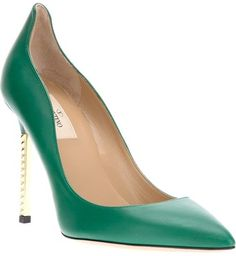 Valentino Metallic Heel Pump - Lyst