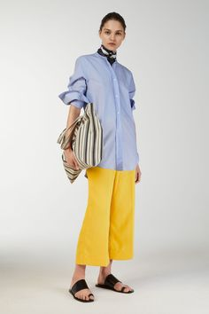 Model front image of Arket in yellow Workwear Trousers 594c0daff0e6