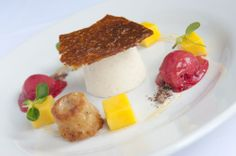 Dessert at Frederick's Restaurant at Langrish House, Petersfield, Hampshire