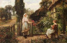 *Friendly neighbours- Henry John Yeend King -1855-1924*