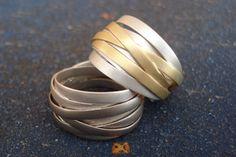 Aneis em prata e ouro   Tiras