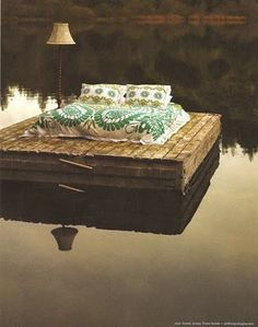 Sleeping out on the raft!