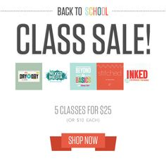 Back to School Class Sale at @studio_calico - get instant access to five of our past classes!