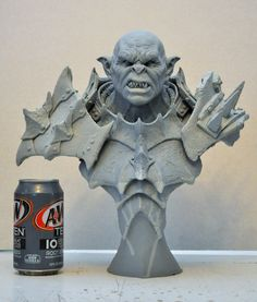 The Iron Hard Orc Bust sculpt by AntWatkins on DeviantArt