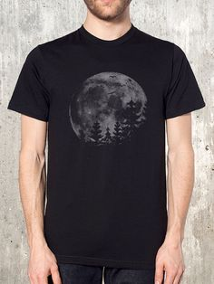 Moon and Forest Men's T-Shirt