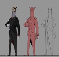 ArtStation - Another character development for an owl butler!, Germán Reina Carmona