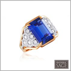 """#FredericSage Tanzanite and Diamond """"One and Only""""  Ring R7475-TZPW"""