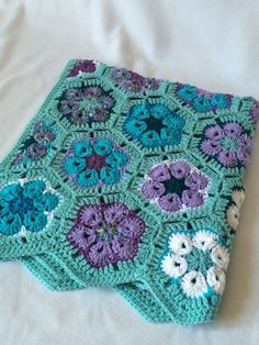 Baby Girl/Toddler/Child Crochet Blanket African by LupineCrochet