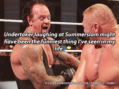 Undertaker Laughing at Summerslam