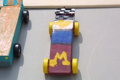 Colton Baldus's Pinewood Derby car, first place winner of the races. (Photo by Wolfgang Baldus)