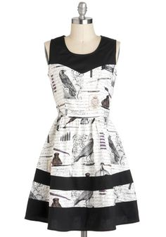 Nevermore Lovely Dress, #ModCloth.  I could imagine wearing this dress walking the streets of paris and marveling at the precious sights.