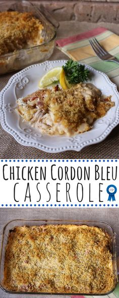 Hearty and creamy, this casserole truly tastes like chicken cordon bleu but so much easier.