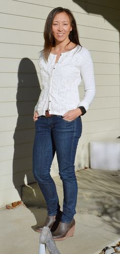 1cc7db514b97 Stitch Fix #3 - February 2015 Skies are Blue Loxton Lace Detailed Collarless  Jacket -