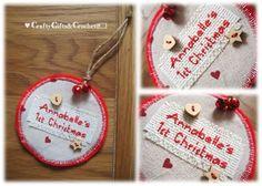 Personalised 1st Christmas felt bauble