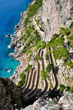 Stairs to the sea, Capri, Italy