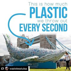 Sky Ocean Rescue the initiative of a popular European entertainment company that highlights global environmental issues has created a 30-foot long installation of a whale  built out of plastic. The whales size is not accidental  it was made out of the same amount of plastic bags bottles and straws that are dumped into the ocean every second. .. When it comes to issues of such huge proportions like the plastic waste crisis it is often difficult to fully grasp the size of the problem because…