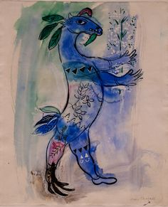 Marc Chagall (1887-1985) Costume Design for The Firebird: Monster with Donkey's Head, 1945 LACMA