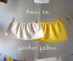 Gathering fabric is really simple on a sewing machine! Much easier than doing it by hand with a running stitch, and also easier to control.  I guarant...