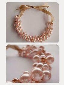 lodijoella: Cómo hacer un collar de perlas DIY