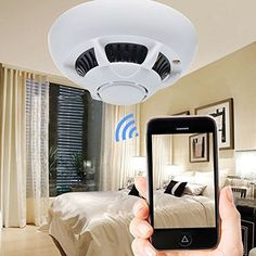 TANGMI Spy Camera IP WIFI Camera Smoke Detector Hidden Camera Nancy Cam Mini Camcorder -- Awesome products selected by Anna Churchill