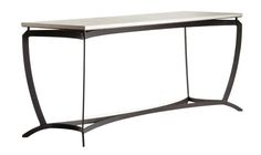 Cordova Console By Christian Grevstad  Contemporary, Metal, Stone, Console Table by Dennis Miller Associates
