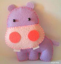 Felt hippo #felt #hippo #sweet #purple