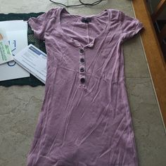 Aeo tee Light purple, buttons at the top American Eagle Outfitters Tops Tees - Short Sleeve