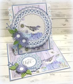 Made by Jolanda Fancy Fold Cards, Easel Cards, Diy Cards, Doilies, Making Ideas, Birthday Cards, Decorative Boxes, Card Making, Symbols