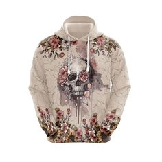 Love Store, Flower Skull, Zip Hoodie, High Definition, Arms, Just For You, Silk, Hoodies, Fabric