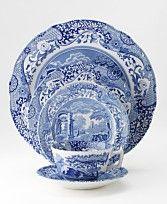 Blue Italian Spode Dinnerware