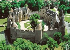 Chateau d'Ainay-le-Vieil, close to Bourges. 2 hours from Lyon. Open to the public to view the Gardens