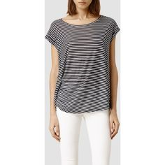 AllSaints Moon Bar Tee (99 CAD) ❤ liked on Polyvore featuring tops and t-shirts